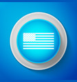 white american flag icon isolated flag of usa vector image vector image