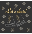 Winter holiday background with figure skates