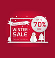 winter sale poster template vector image vector image