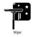 wiper icon simple black style vector image vector image
