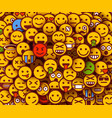 yellow smiles background emoji texture vector image vector image
