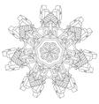 zen art outline city vector image vector image