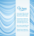 Abstract Light Blue Waves Background vector image