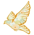 Hand drawn pigeon made of flower pattern vector image