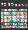a set of colored icons vector image vector image