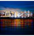 abstract panoramic evening background with night vector image vector image