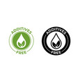 additives free no added leaf and drop icon vector image vector image
