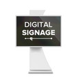 advertising digital signage advertising vector image