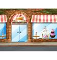 Bakery shop vector image vector image