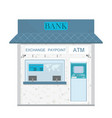 bank counter currency exchange service and atm vector image vector image