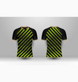 black and green stripe with gold pattern sport vector image vector image