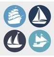 boat wood marine icon vector image vector image