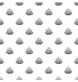 bowling strike pattern seamless vector image
