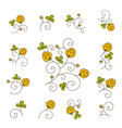 Branch of blossoming clover vector image