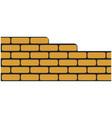 brick wall building construction vector image