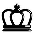 britain crown icon simple black style vector image vector image