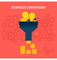Business Conversion Flat Concept vector image vector image