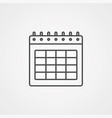 calendar icon sign symbol vector image