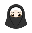 Cartoon girl with niqab vector image vector image