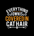 cat hair typography lettering design image vector image vector image