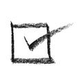 Check mark in box vector image vector image