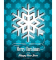 Christmas with snowflakes design vector image vector image