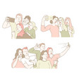 classmates gathering or friends meeting selfie or vector image vector image