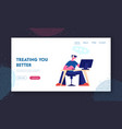 customer support service website landing page vector image vector image