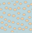 cute cloud sky seamless pattern on blue vector image vector image