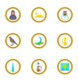 dubai travel icons set cartoon style vector image vector image