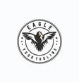 eagle logo design template vector image vector image