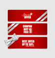 End of year sale savings labels set Modern Style vector image vector image