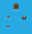 flat icon electronics set of resistor destination vector image vector image