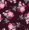 Floral pattern with pink flowers vector image vector image