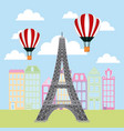 france paris card vector image vector image