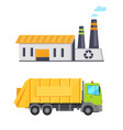 garbage infographic elements vector image vector image