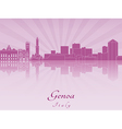 Genoa skyline in purple radiant orchid vector image vector image