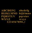 golden font set vector image