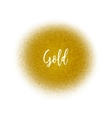 Golden spray dot particles Golden Airbrush vector image vector image