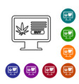 Grey line computer monitor and medical marijuana