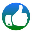 hand sign white icon in vector image vector image