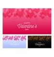 heart bokeh set horizontal valentines hearts vector image
