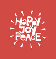 holiday quotes happy joy peace vector image vector image