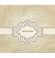 invitation on floral frame and seamless pattern vector image vector image