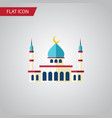 isolated structure flat icon islam element vector image vector image