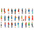 isometric different people set isolated vector image vector image