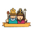 king and crown design vector image