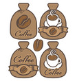 Label for coffee in the form of a bag vector image