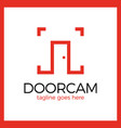 line door photo logo vector image vector image
