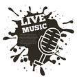 live music concert vector image vector image